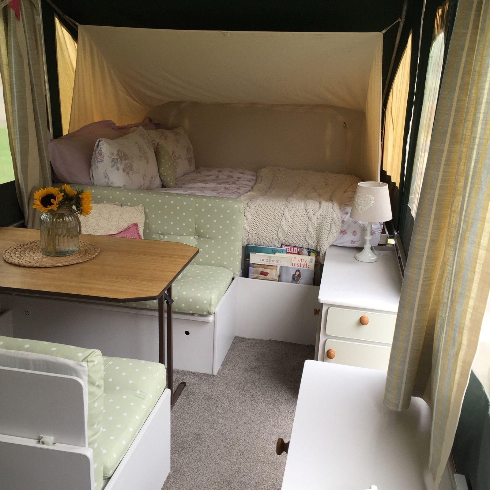 Shabby Chic Conway Tardis Folding C&er Trailer Tent Refurbished Gl&ing & Shabby Chic Conway Tardis Folding Camper Trailer Tent Refurbished ...