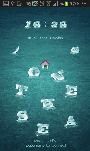 "silent atmosphere deep in the sea.<br>You can feel it with this theme.<p>More themes are available from iThemeshop!<br>Japanese version themes are available from iDeco.<p>------------------------------------<br>[""iThemeshop"" theme How to Use]<p>on the sea theme down after receiving<p>More themes - more variety - those who wish<br>Decorating phone No.1 ""iThemeshop"" I'll see you at!<br>And rockers, keypad, icon pack could be reached with full set package :-)<p>Theme copyright]<br>All of the…"