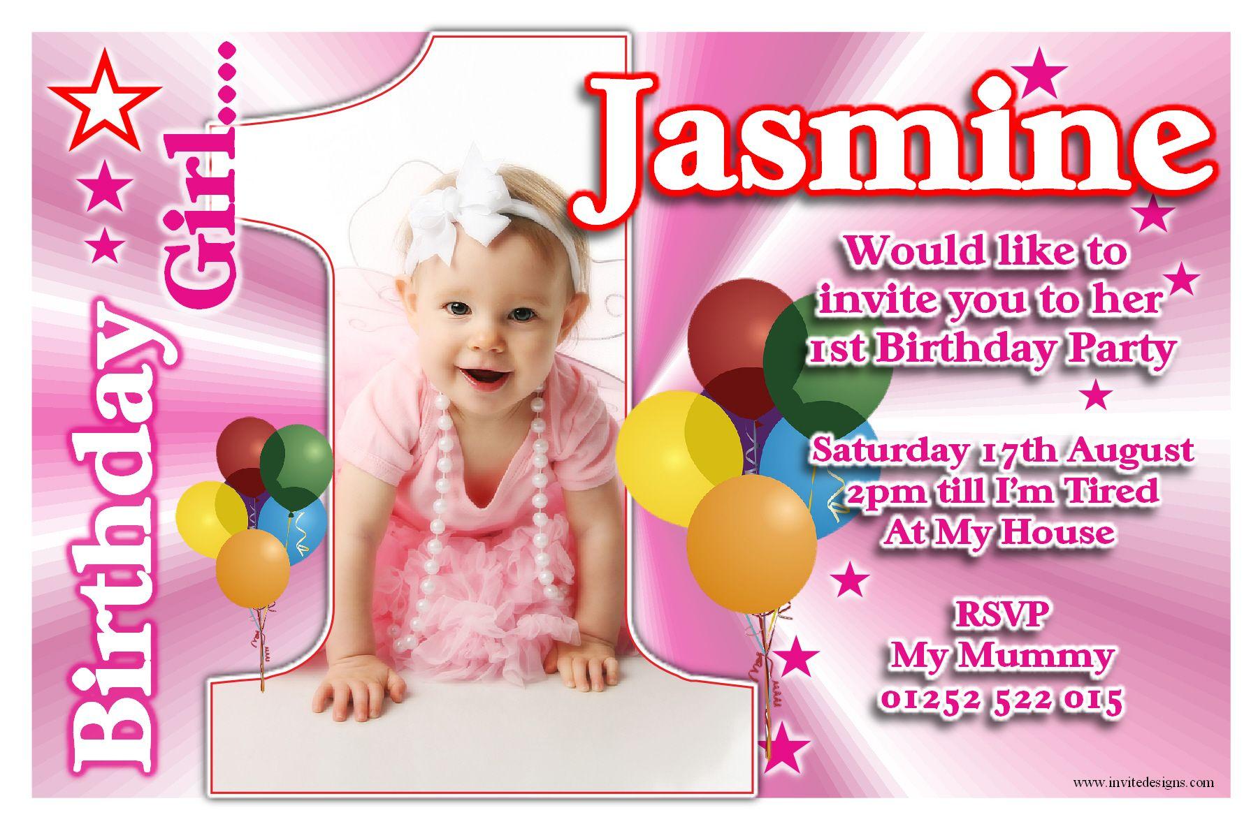 Baby First Birthday Invitation Buscar Con Google Invitations - Birthday invitation card baby