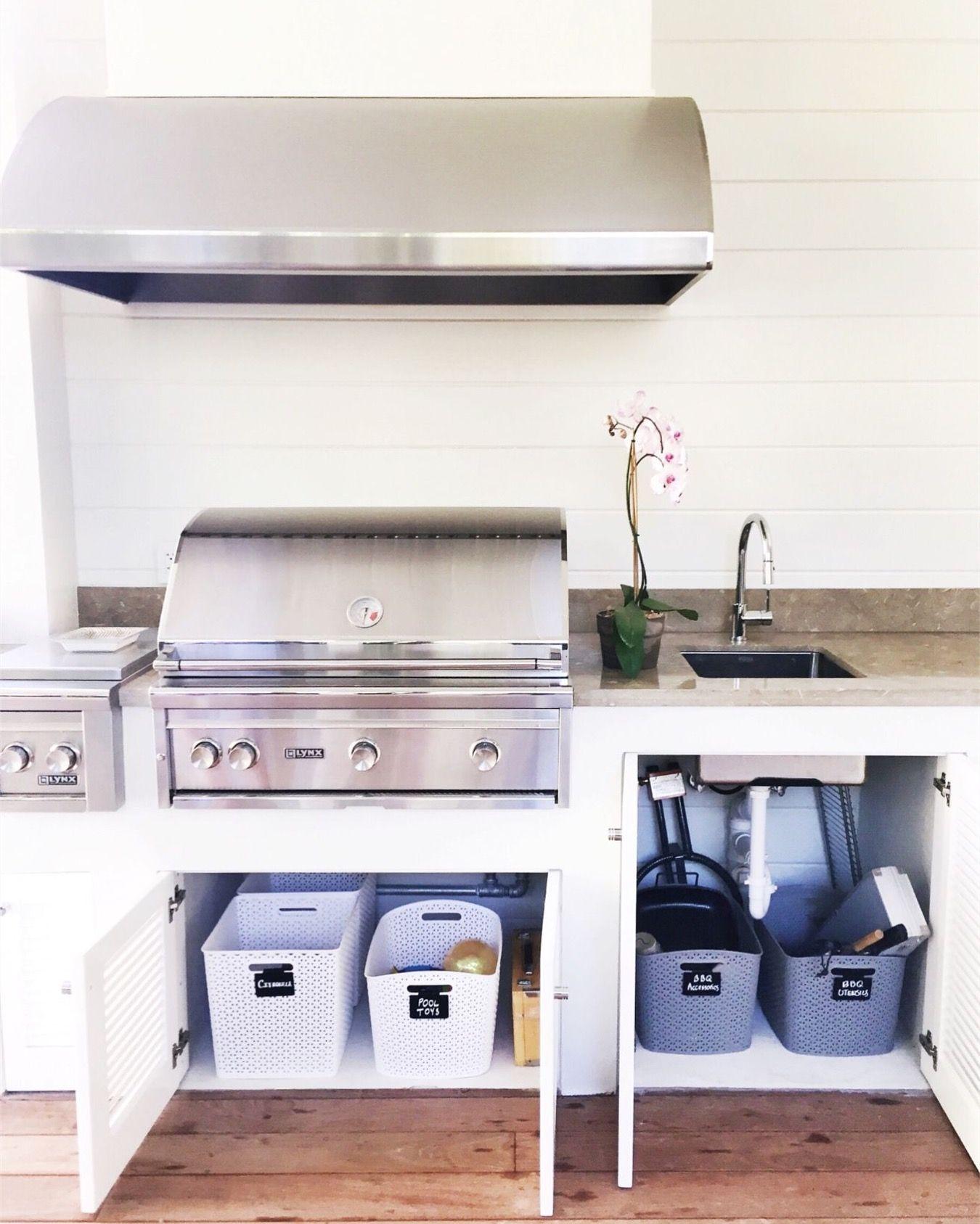 Neat Method Outdoor Kitchen, Garage Design, Garage Inspiration, Garage Organization,
