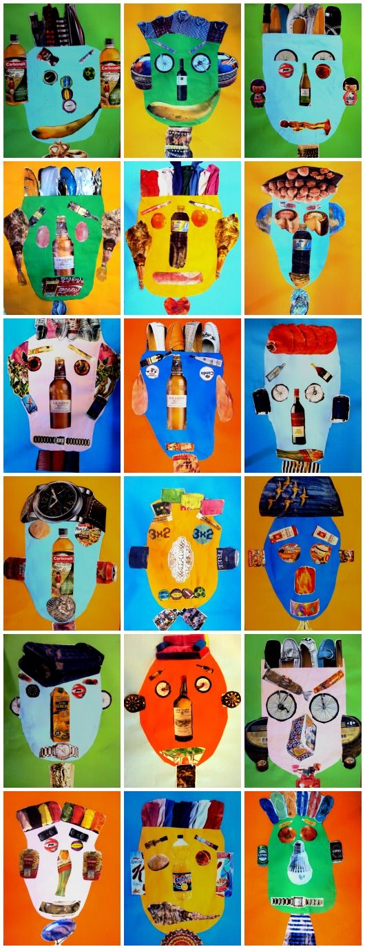 mask using collage art craft ideas for school pinterest kunstunterricht kunst und kunst. Black Bedroom Furniture Sets. Home Design Ideas