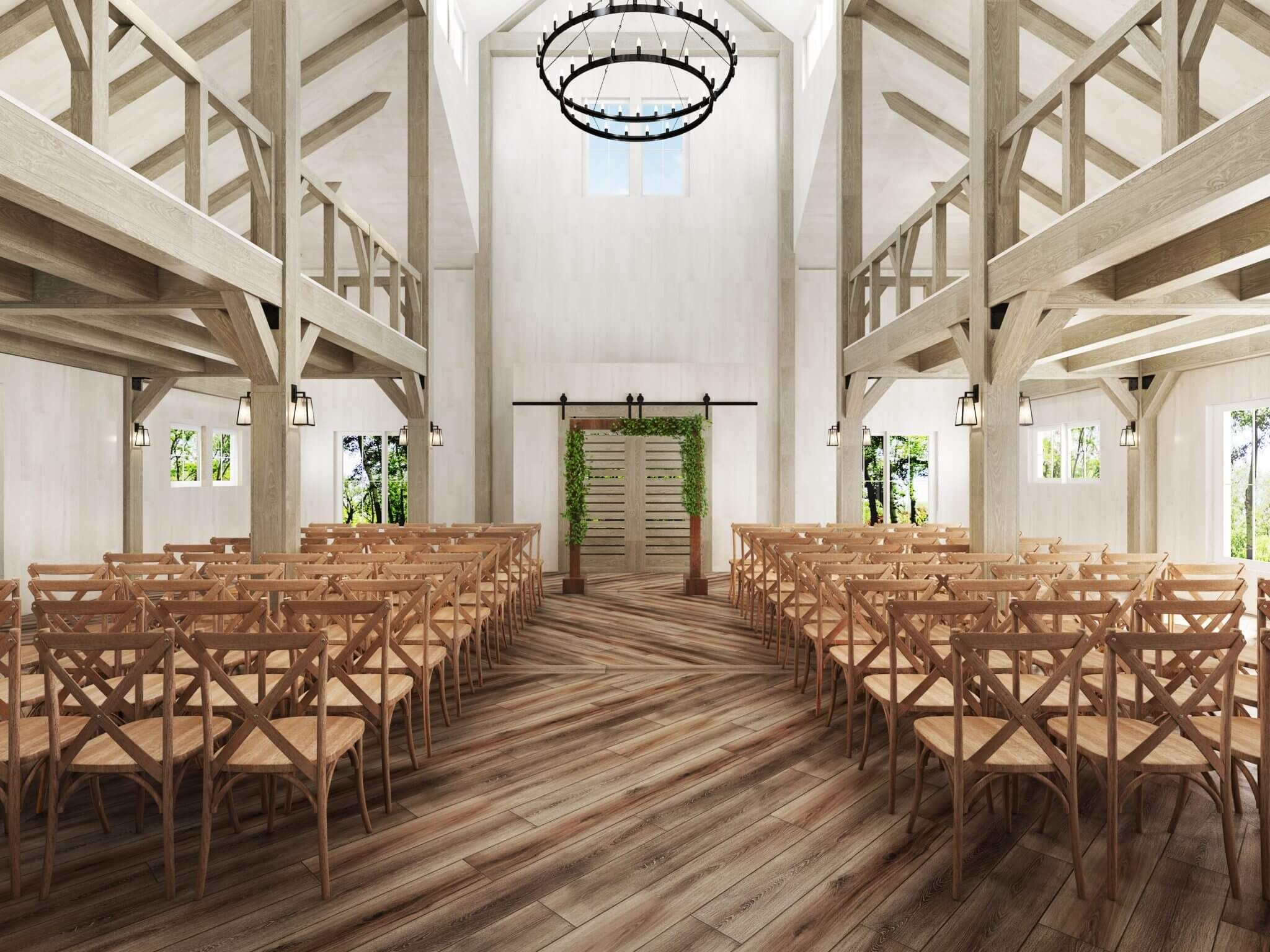Gorgeous Light And Bright Indoor Rustic Barn Ceremony Farm Chairs Double Ring Industrial Ma Wedding Venues Massachusetts Wedding Venues Wedding Venues Indoor