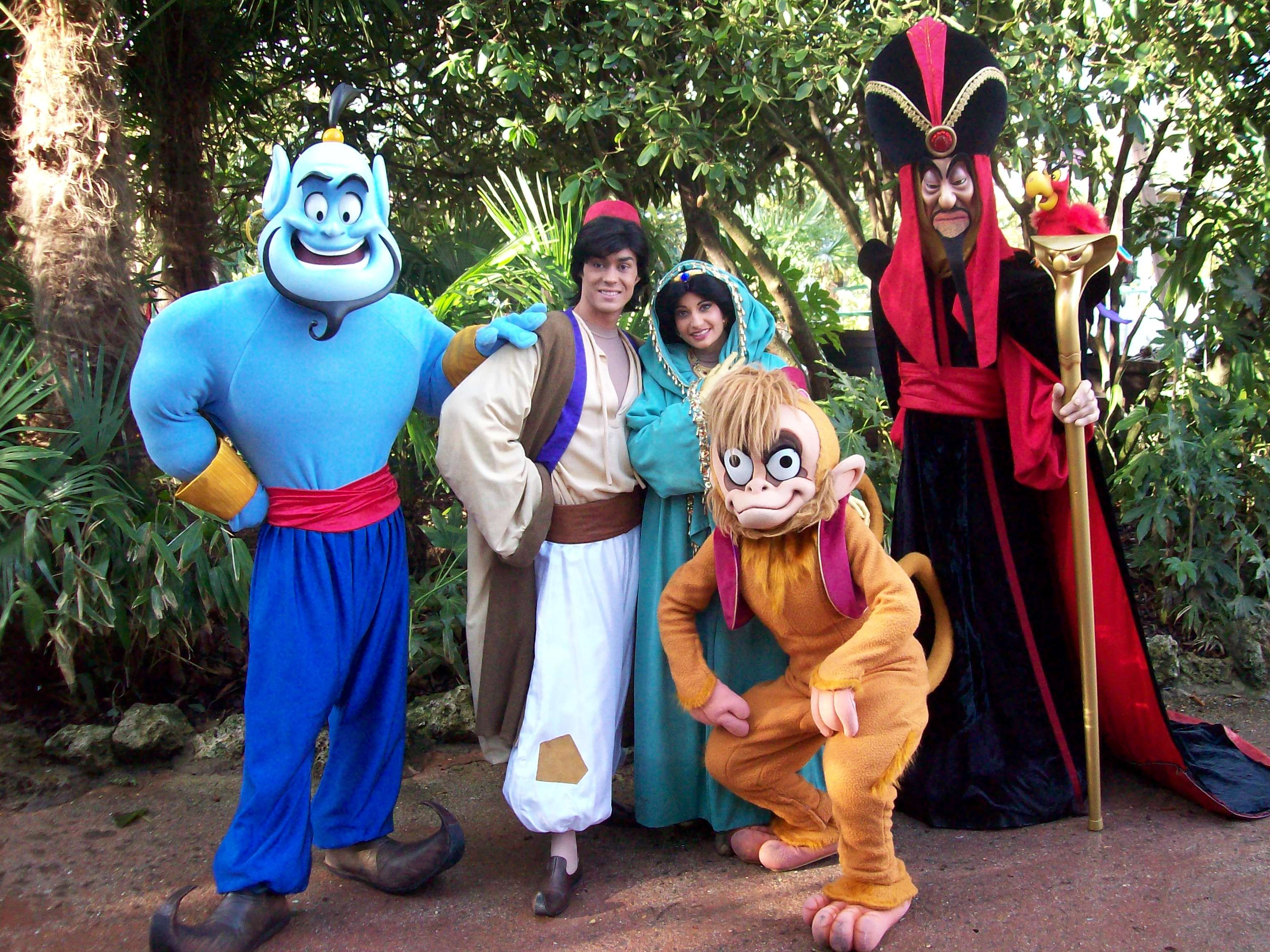 Genie Aladdin Jasmine Abu And Jafar Various Disney Some Dark