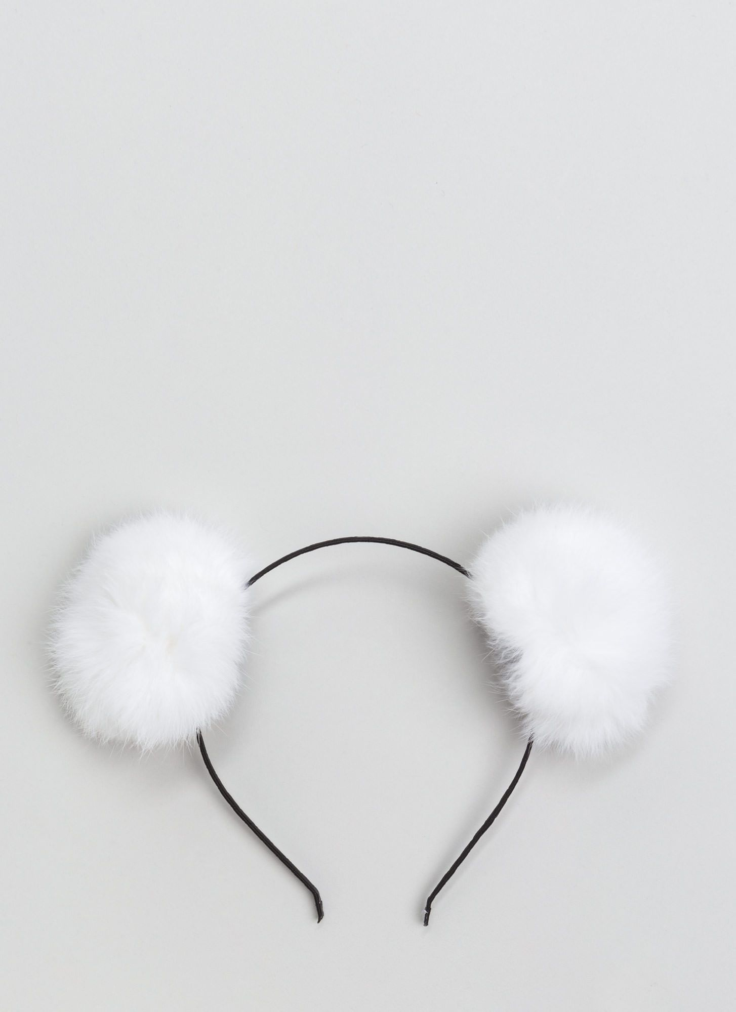 Fur Your Ears Only Pom-Pom Headband IVORY