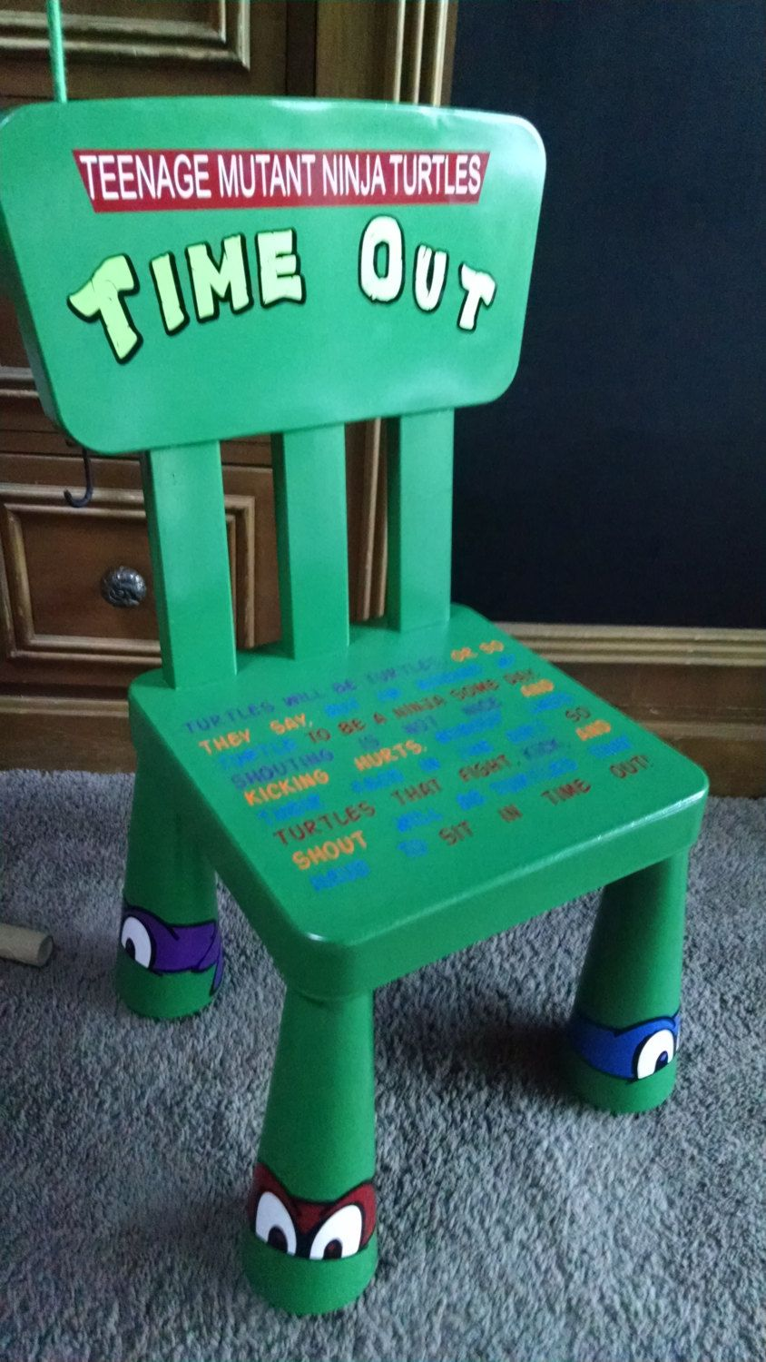teenage mutant ninja turtles bedroom ideas ninja turtle bedroom teenage mutant ninja turtle time out chair by frommypaintedheart on etsy