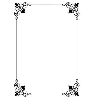 Decorative page border vector 1728661jpg 380400 Pixels