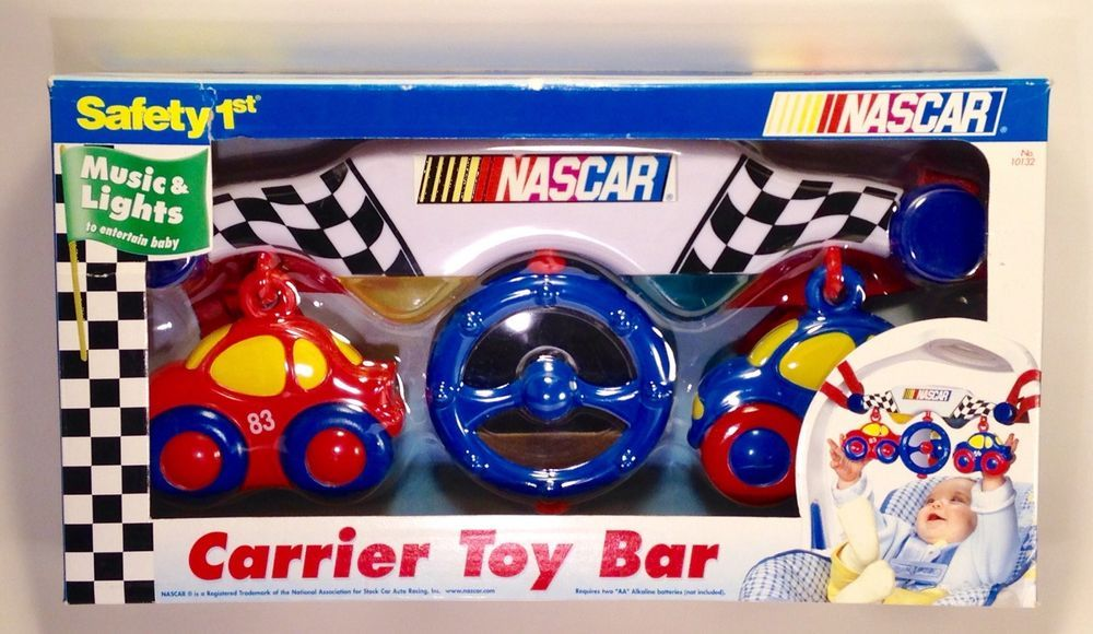 Nascar Racing Baby Toy Bar Music Lights Activity Rattle