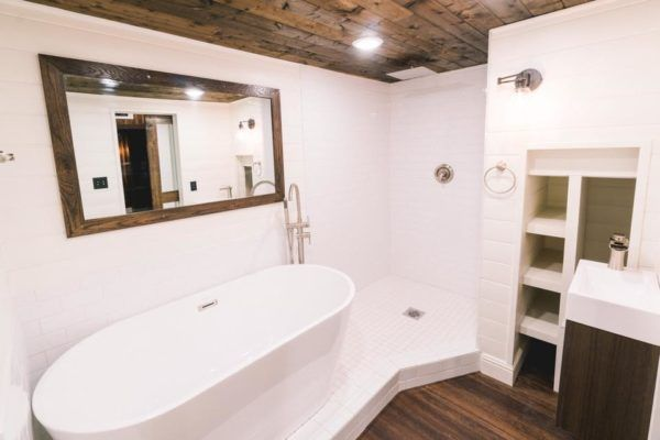 10-Foot Wide Tiny House with Amazing Bathroom by California Tiny House #tinyhousebathroom