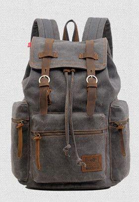 Canvas ryggsäck retro