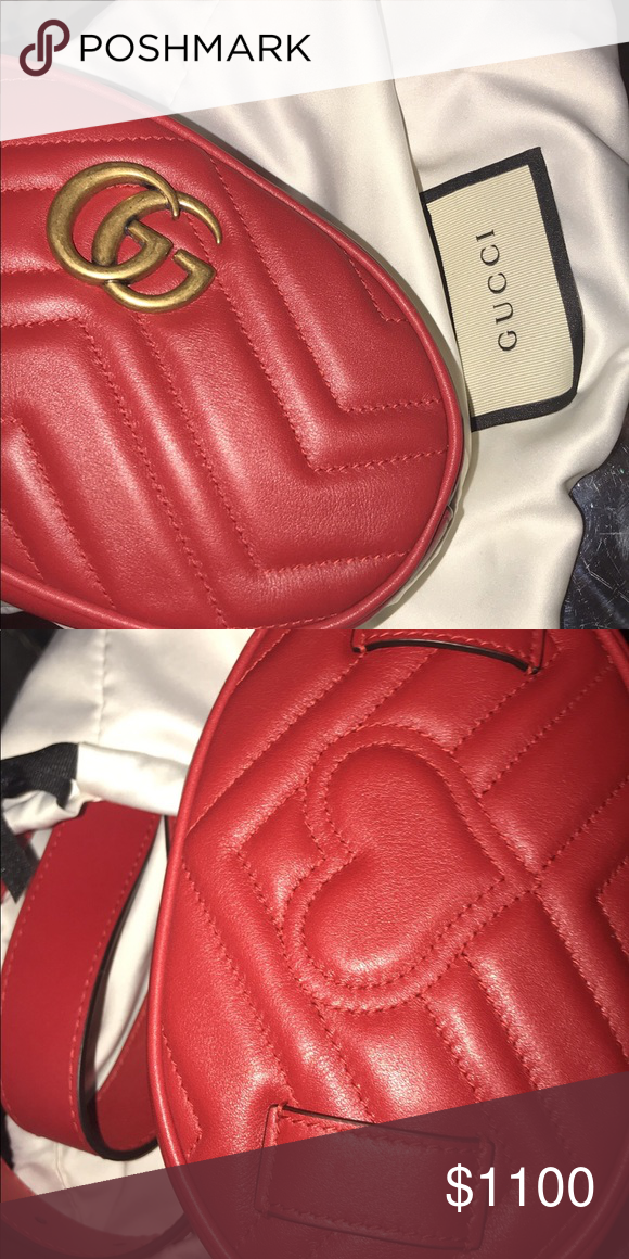 0bbe0ca9b770 This Is My All Red Leather Belt Gucci Fanny Pack All Red Leather Come With  Belt Gucci Bags Mini Bags