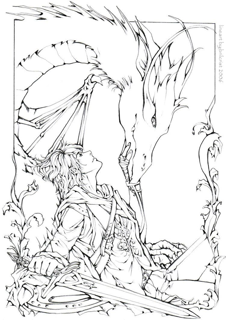 Eragon & Saphira coloring page :P | Flight of Dragons | Pinterest ...