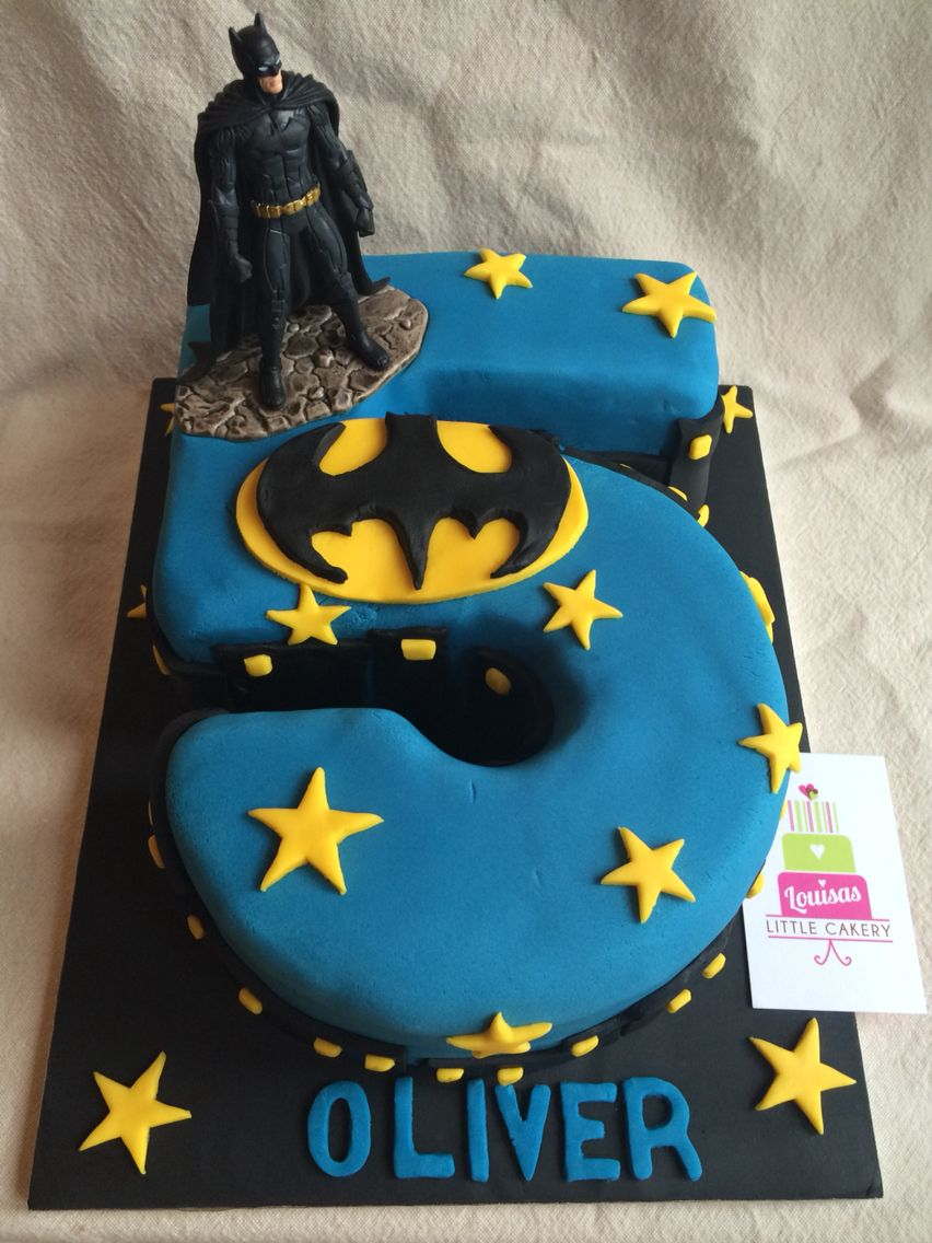 Batman number 5 cake BIRTHDAYS Pinterest