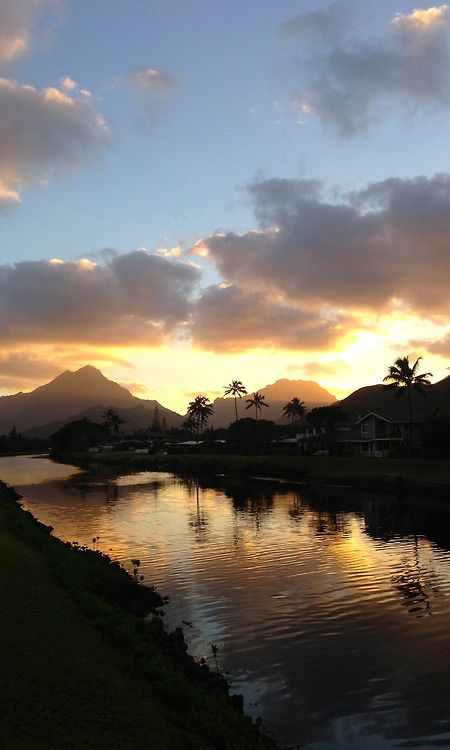 Sunset at the canal in Kailua where I live.