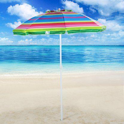 Rio Brands 6 ft. Tilt Beach Umbrella with Carry Bag ...