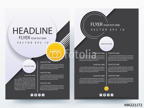 Abstract Vector Modern Flyer Brochure  Annual Report Design