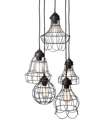 Look at this #zulilyfind! Brown Five-Bulb Pendant Light #