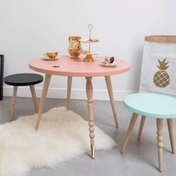 table basse enfant style scandinave ronde my lovely. Black Bedroom Furniture Sets. Home Design Ideas