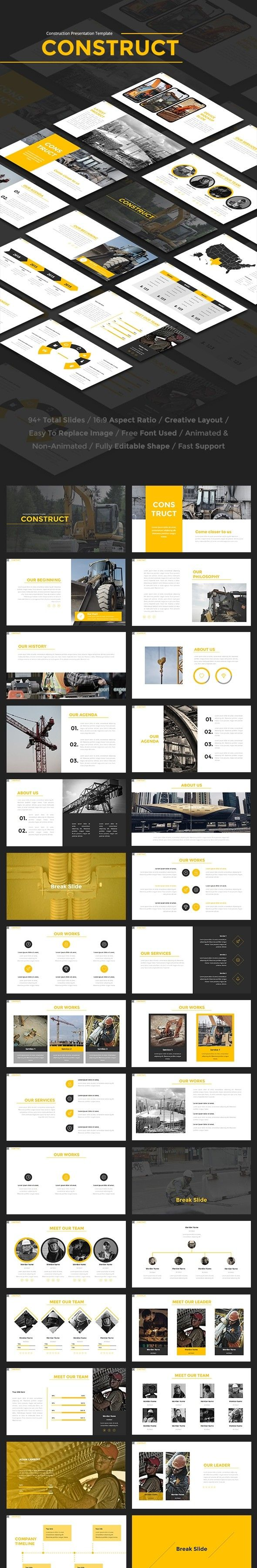 Construct construction powerpoint template presentation construct construction powerpoint template presentation templates template and construction toneelgroepblik Images