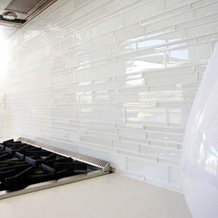 Love this white glass tile splashback glasstiles kitchen also