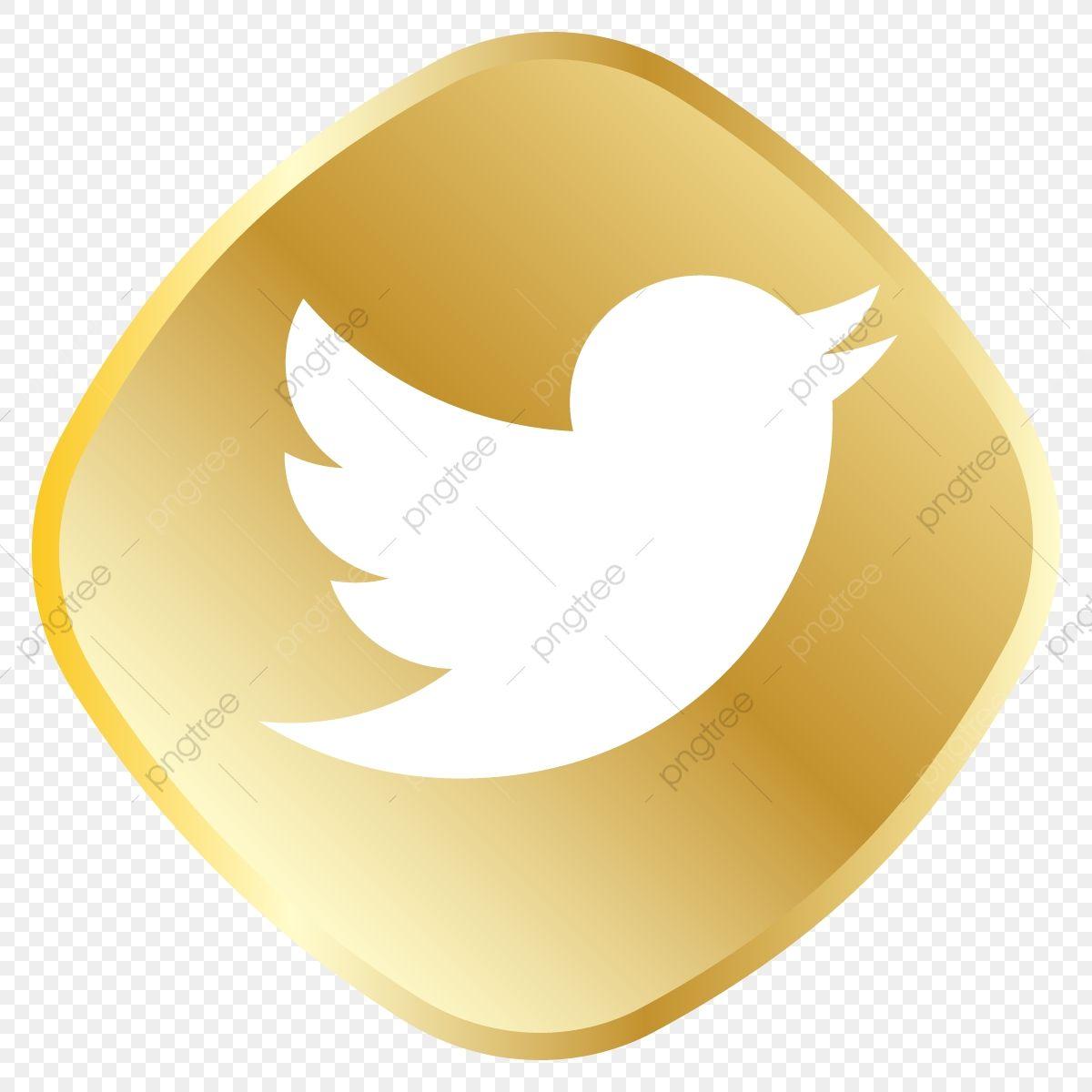 جولدن ايقونة تويتر شعار تويتر ناقل تويتر أيقونة تويتر Png والمتجهات للتحميل مجانا Twitter Icon Icon