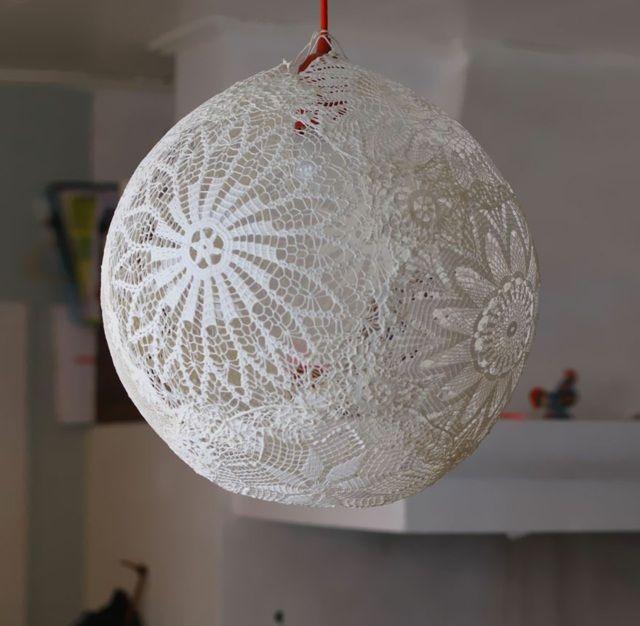 lampe aus papier selber basteln