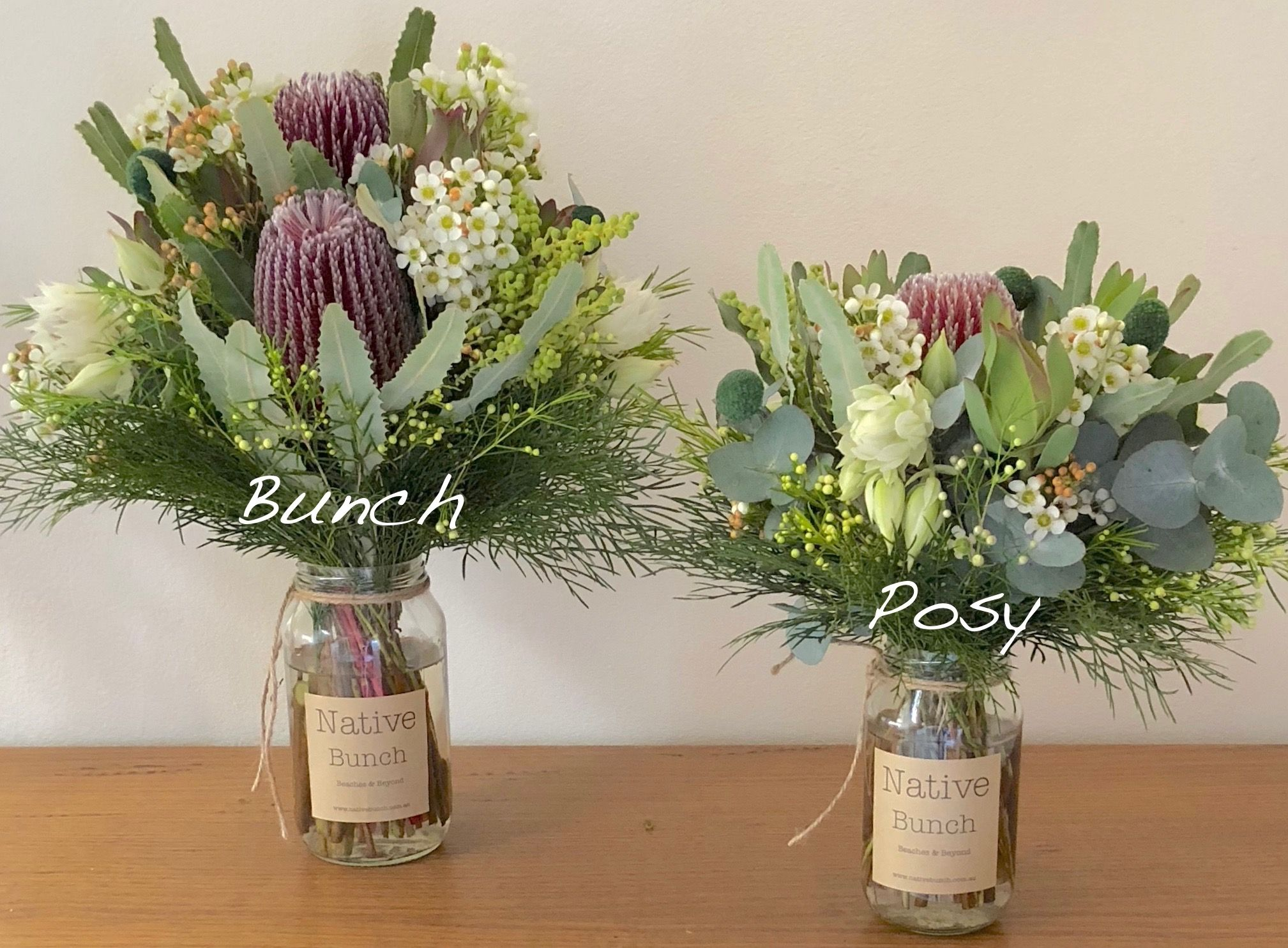 Native flowers Bunch 50 or Posy 30 delivered to Sydney