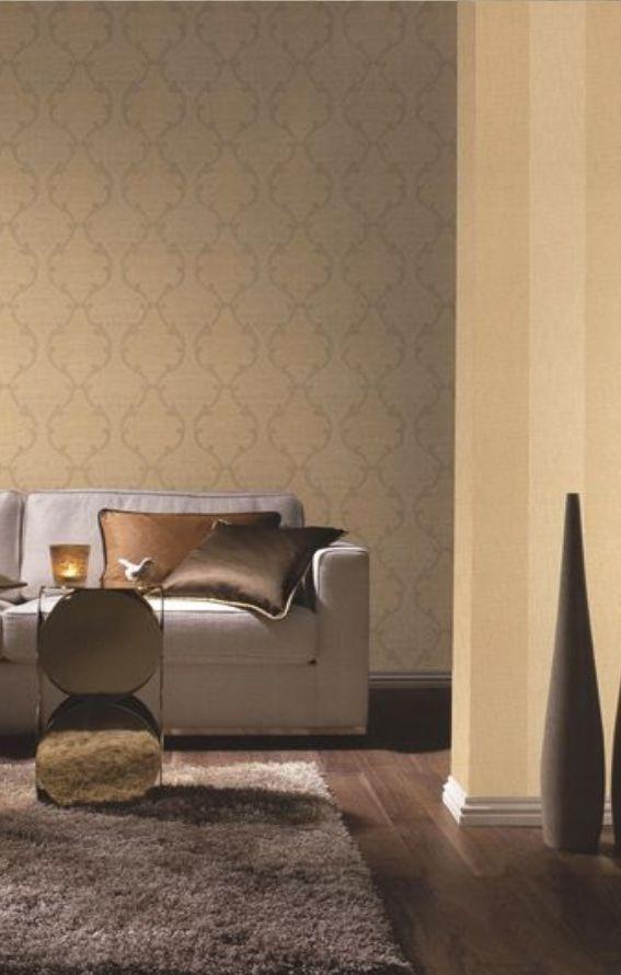 Rasch-textil Infinity Beige-gelb Gold-braun Ornament-muster ... Wohnzimmer Beige Gold