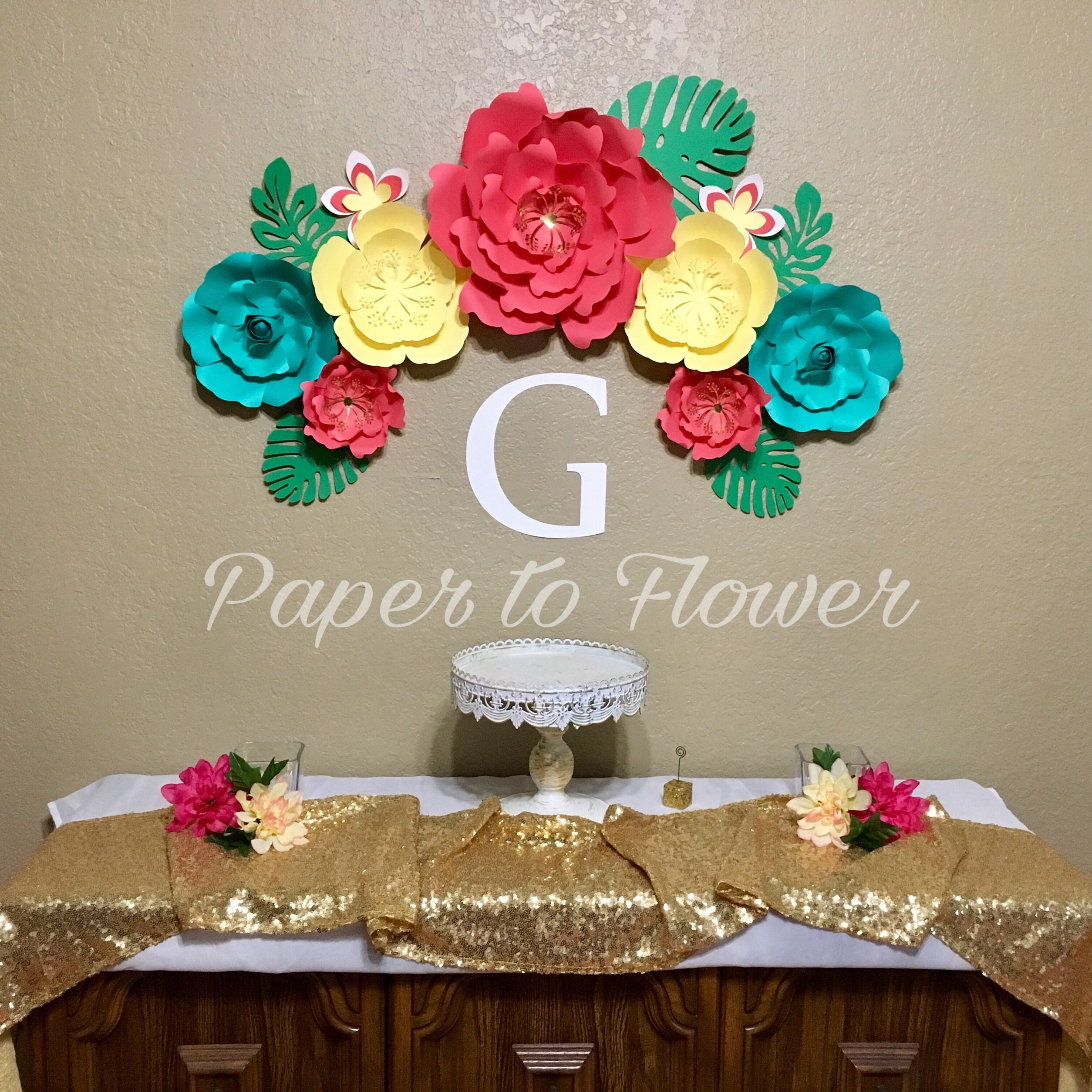 Moana Paper Flowers  Paper to Flower  Pinterest  Paper flowers