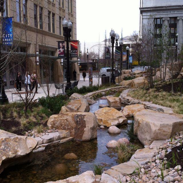 Downtown Salt Lake City Ut: City Creek Downtown Salt Lake City, Utah