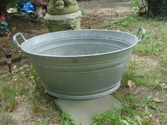 Sale Antique Early 1900s German Zinc Bathtub Tin Bathtub Architectural Salvaged Metal Tub Tin Bathtub Metal Tub French Vintage