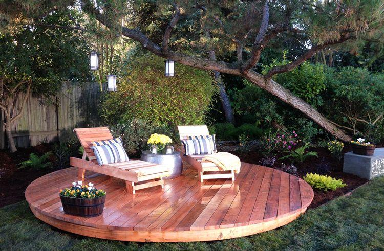 Circular Deck Outdoor Decor Outdoor Furniture Sets Design