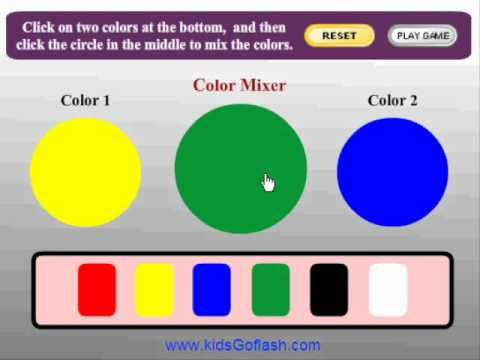▷ Preschool Game for kids - Color Mixer - YouTube interactive for ...