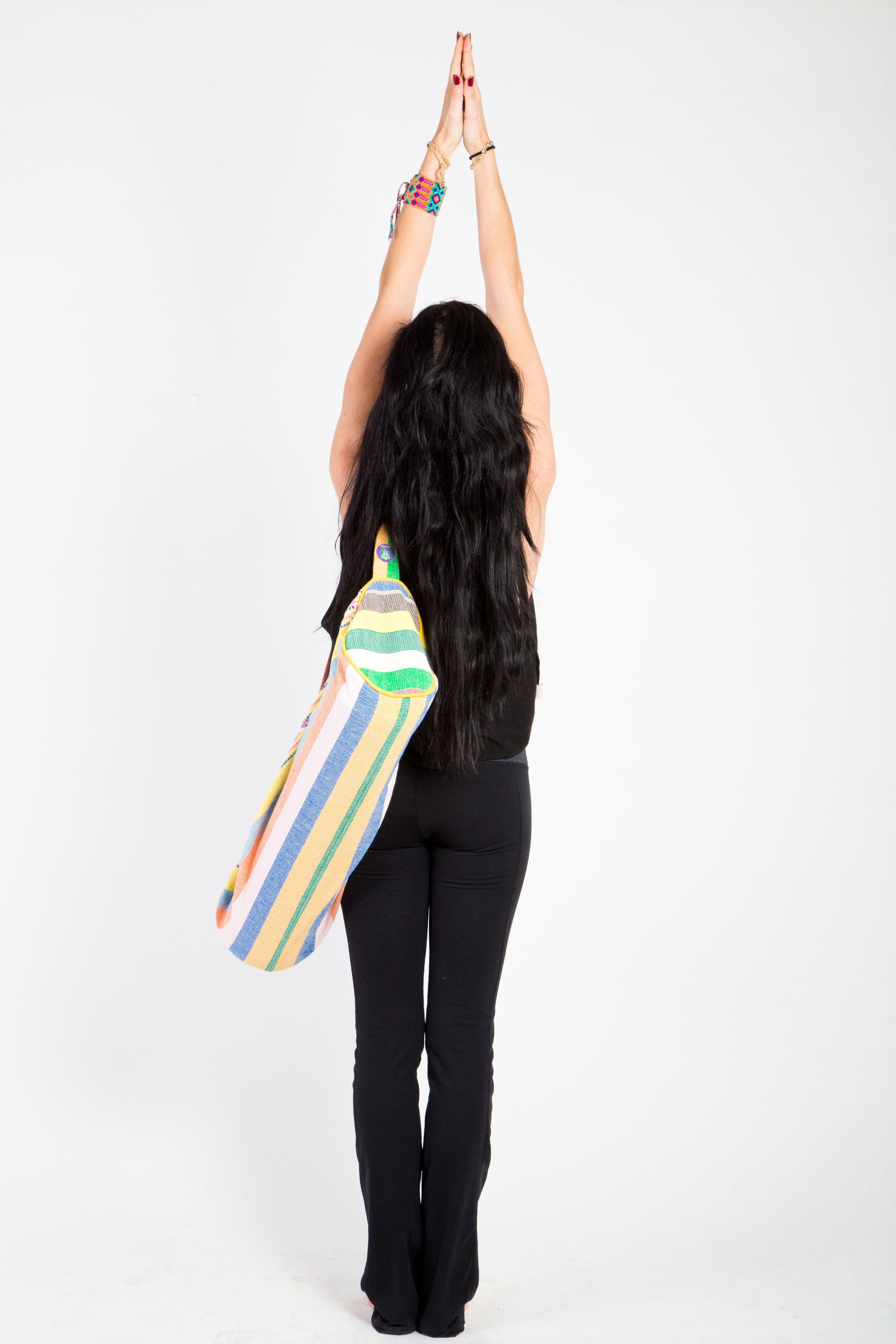 1952b6375e Arcoiris en tu porta mat  )   mexican rainbow yoga tote