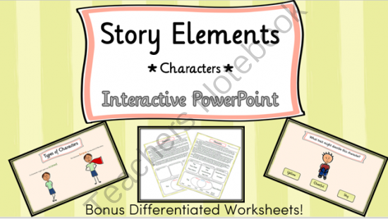 Story Elements Characters Interactive Powerpoint W Differentiated