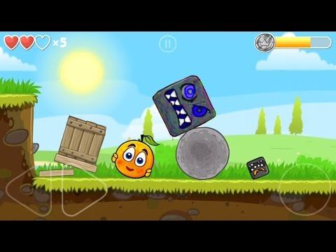 C  Orange Ball plays Red Ball 4 all levels of Volume 1 with BOSS Game Pl...