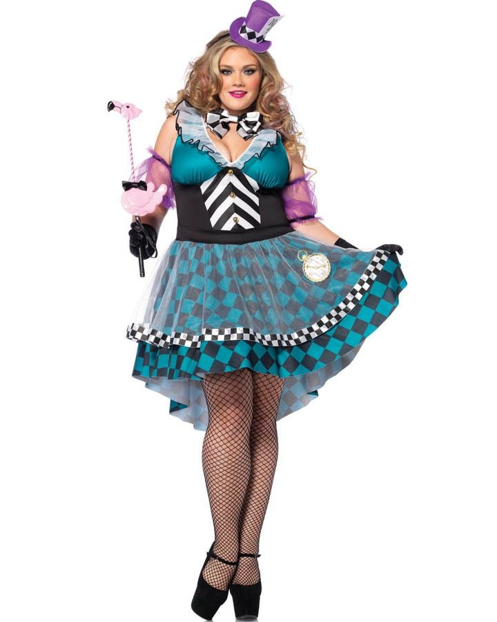 Adult deliriously mad hatter costume seems me