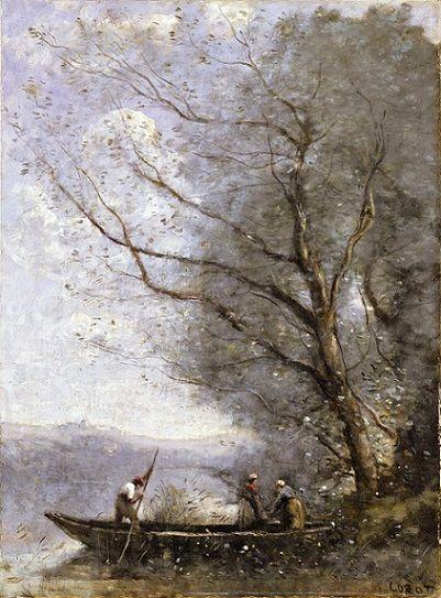 The Ferryman - Jean-Baptiste-Camille Corot  Scegli il tuo dipinto ed ordinalo online su www.corniceriailcavalletto.com