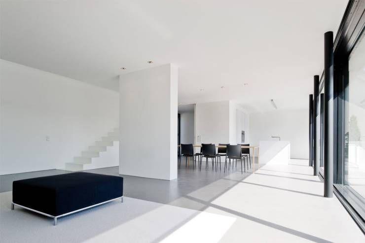 360° kleines, modernes Haus - architekt wohnzimmer