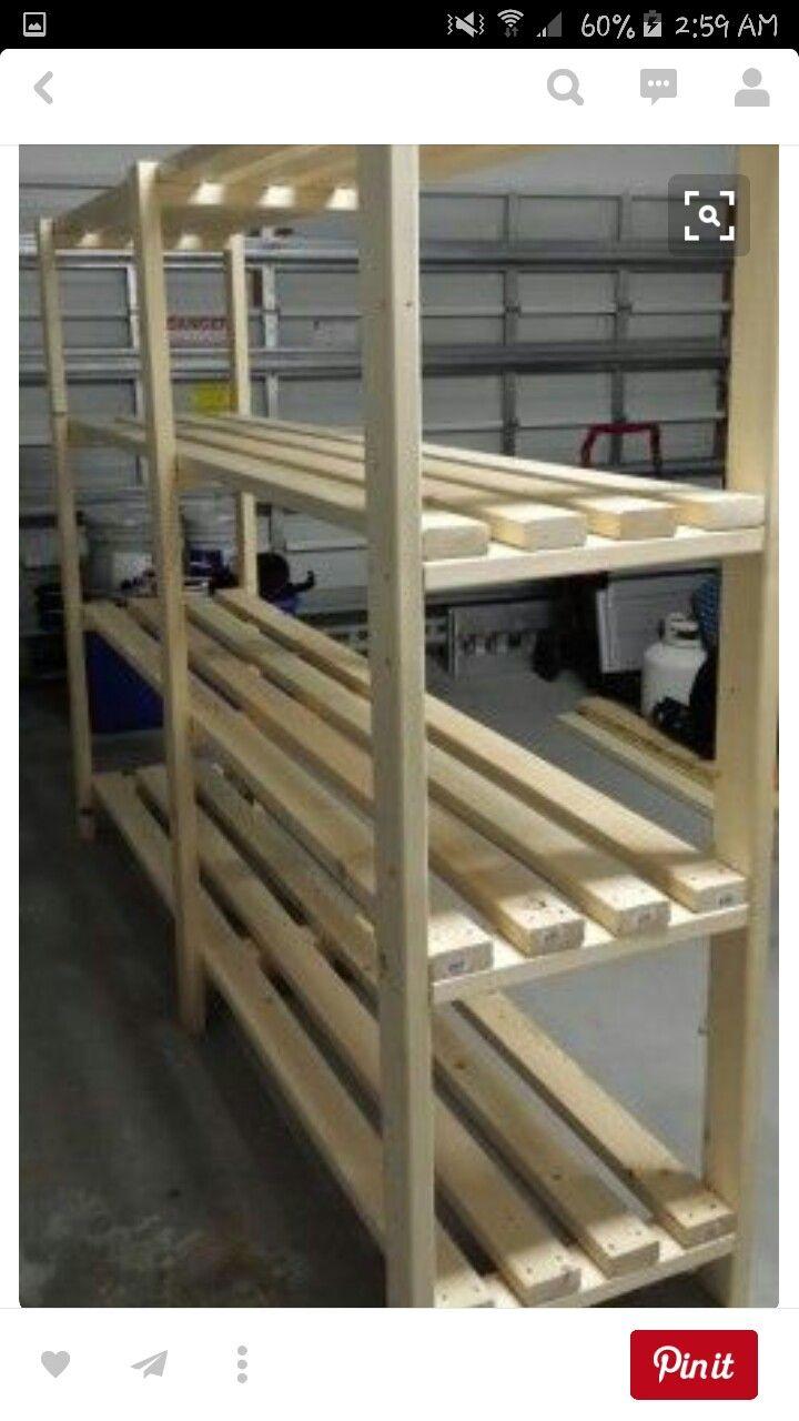 Great Plan for Basement Shelf!