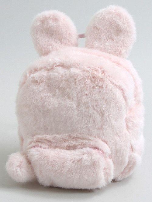 Fluffy Bunny Backpack - Pink White Black in 2019  289e3997e94ff