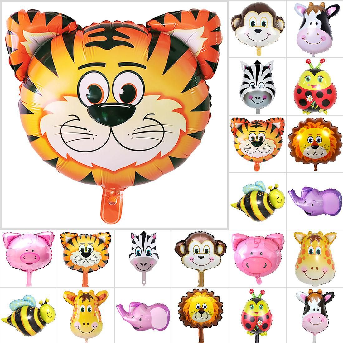"Wild Safari Jungle Zoo Animal Decoration Lion 32/"" Giant Shape Foil Balloon"