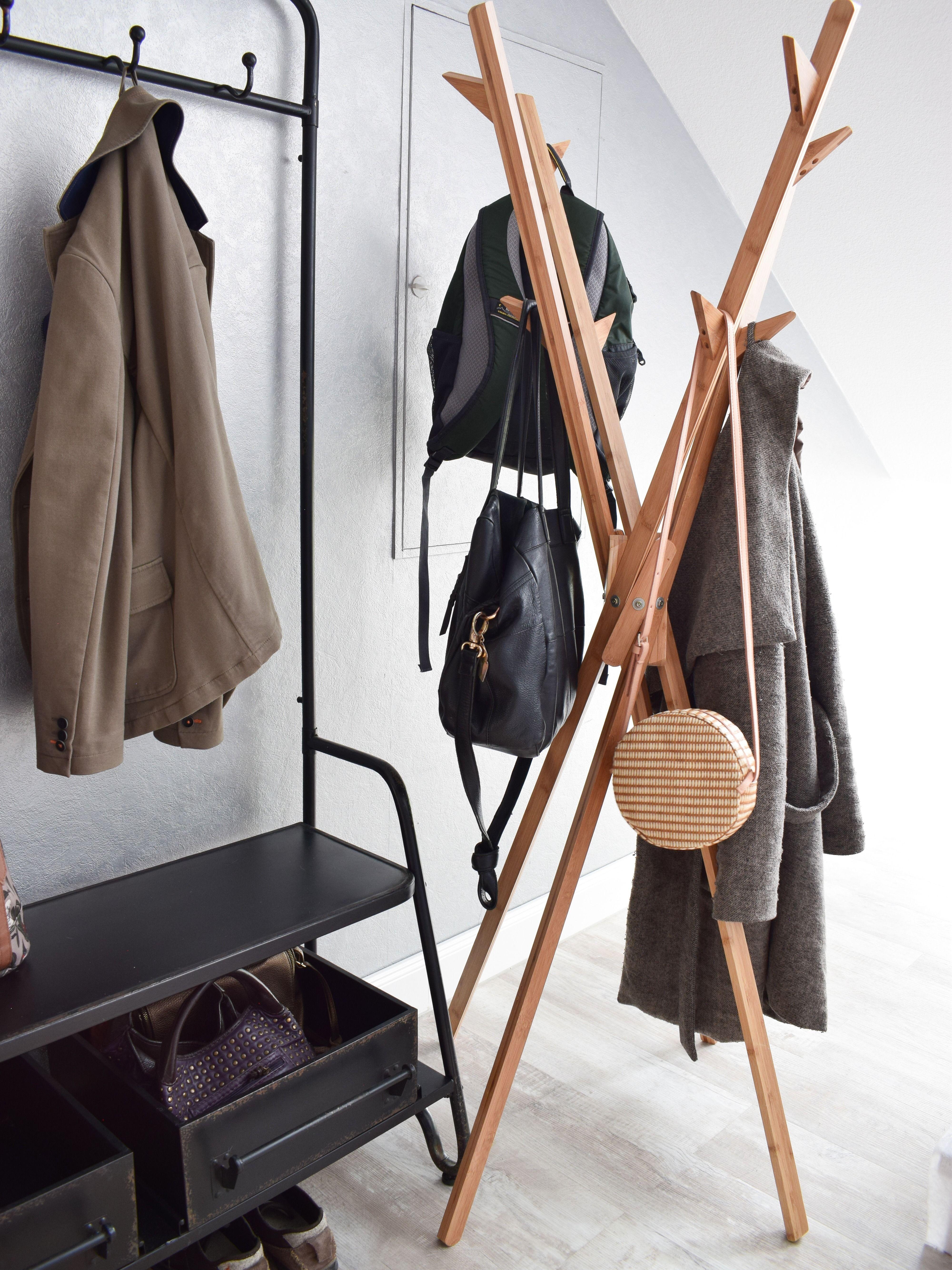 Standgarderobe Mikado Aus Bambus Garderobe Ideen Aufbewahrung