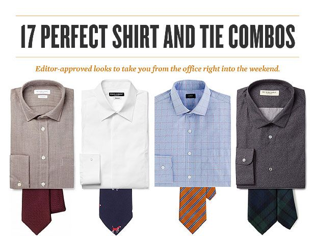 17 perfect shirt and tie combos sharp canada 39 s for Mens dress shirts and ties combinations