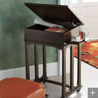 What A Great Idea A Mobile Desk It Has A Lift Up Desk Top And A