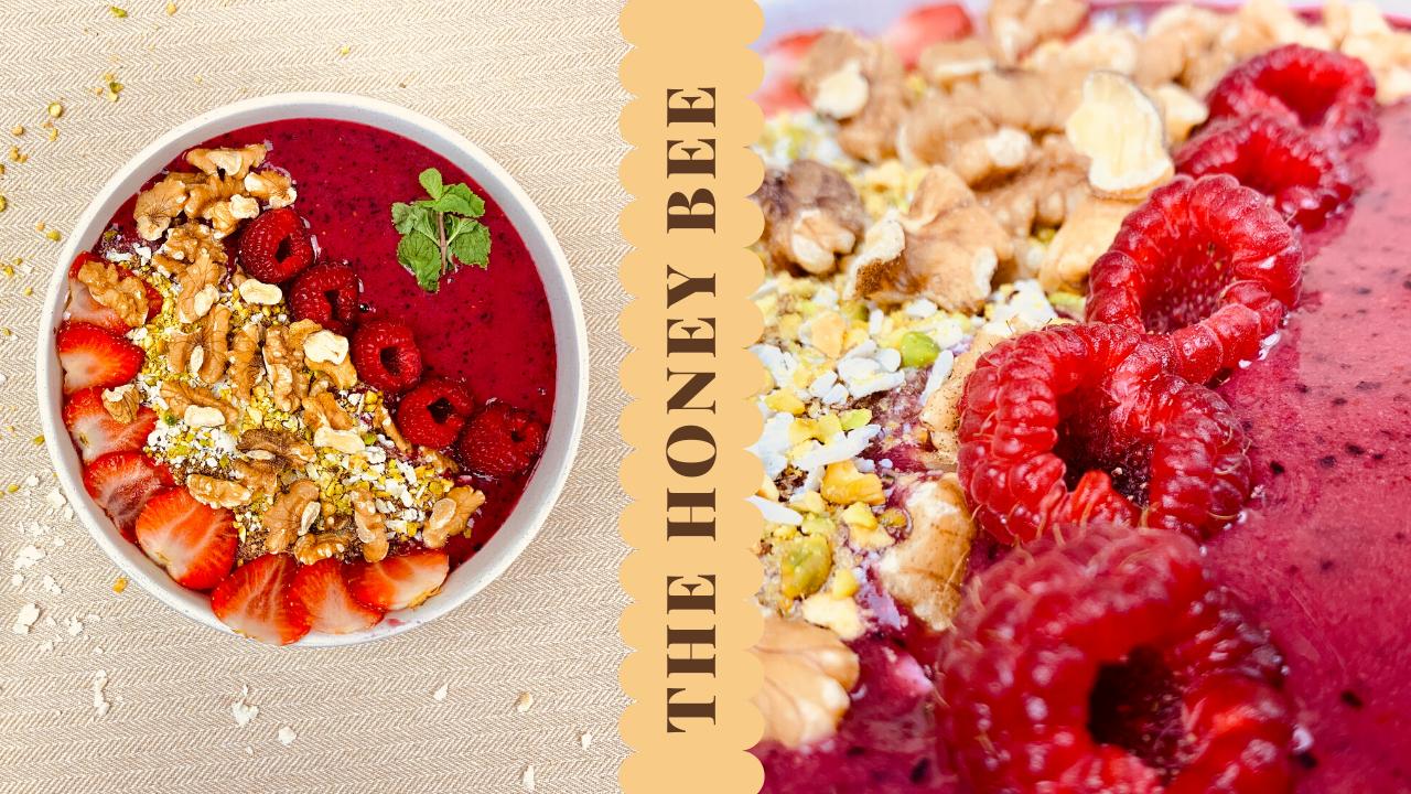 صحن السموذي بالفاكهة والمكسرات مليان فوائد غني بالنكهات Food Acai Bowl Breakfast