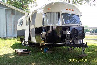 This is just like mine....BEFORE renovation...same model -Airstream Therapy - 1973 Argosy Restoration