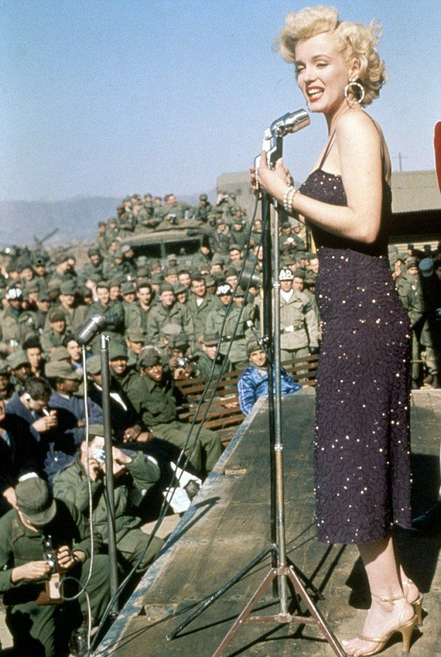 Katherine's Monroe moment! Singer Jenkins channels Marilyn's glamour as she performs two concerts for troops in Afghanistan… as well as a special happy birthday