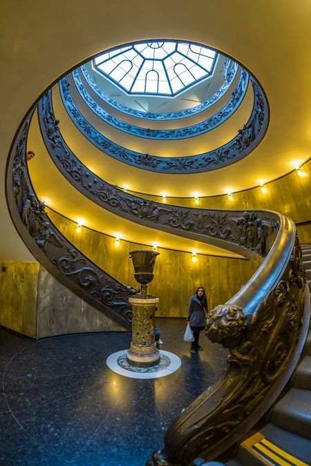 Best Looking Up At The Massive Double Spiral Staircase Inside 400 x 300