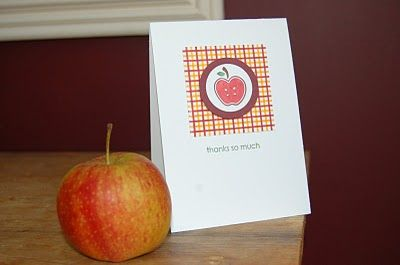 Stampin' Up ideas and supplies from Vicky at Crafting Clare's Paper Moments: Tart and Tangy teachers' thank you