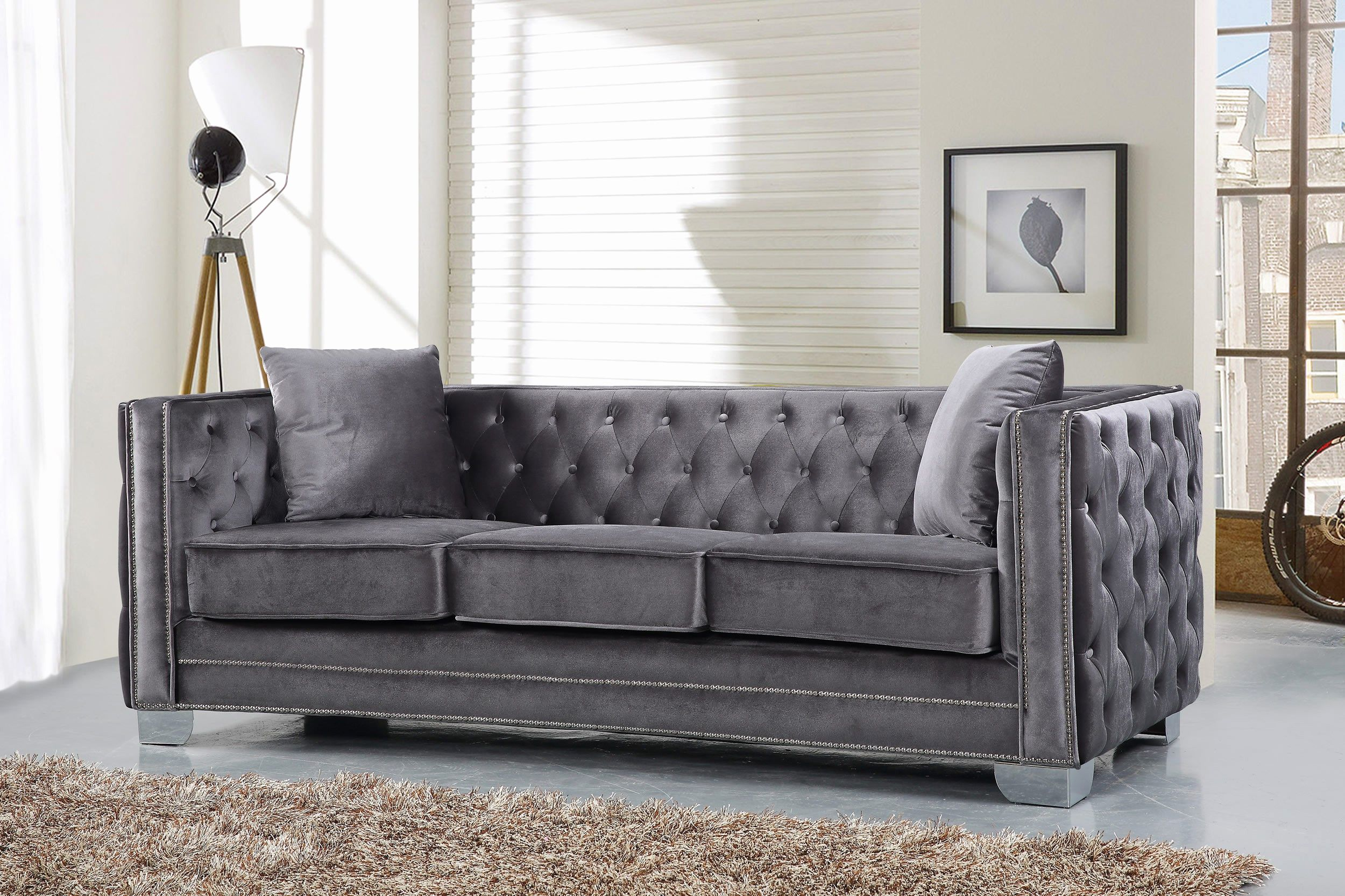 Elegant Velvet Tufted Sleeper Sofa Pics Velvet Tufted Sleeper Sofa Lovely Furniture Light Grey Tufted So Blue Velvet Sofa Meridian Furniture Modern Tufted Sofa
